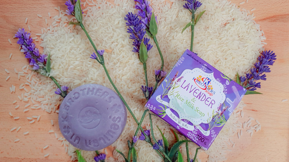 K.Brothers Lavender Rice Milk Soap