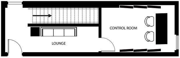 Noble Street Studios - StudioD Floor Plan