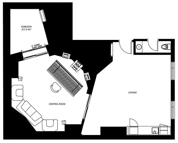 Noble Street Studios - StudioB Floor Plan