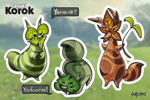 Tanuki Korok Sticker Sheet