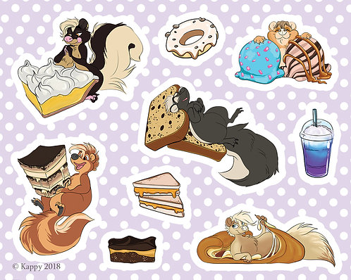 Hungry Skunk Sticker Sheet