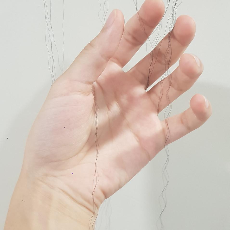 Hair Experiment, 2019 (fake hair)