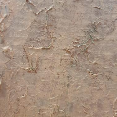 Flesh experiment, 2019 (acrylic and PVA glue on canvas board)