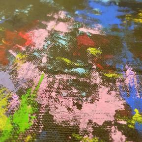 Physical digital heart (close-up), 2020 (acrylic on canvas)