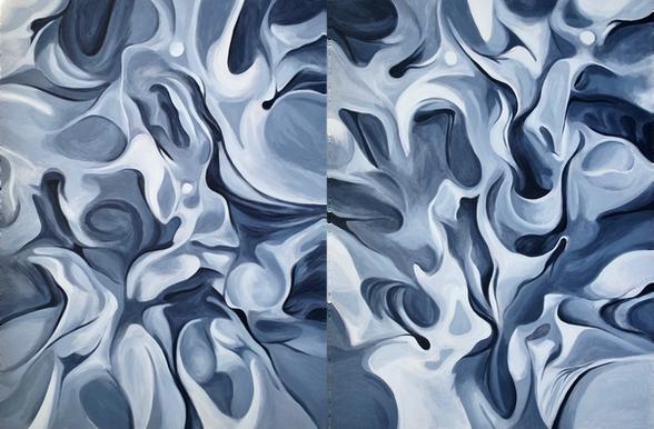 Flesh Paintings, 2020, acrylic on canvas