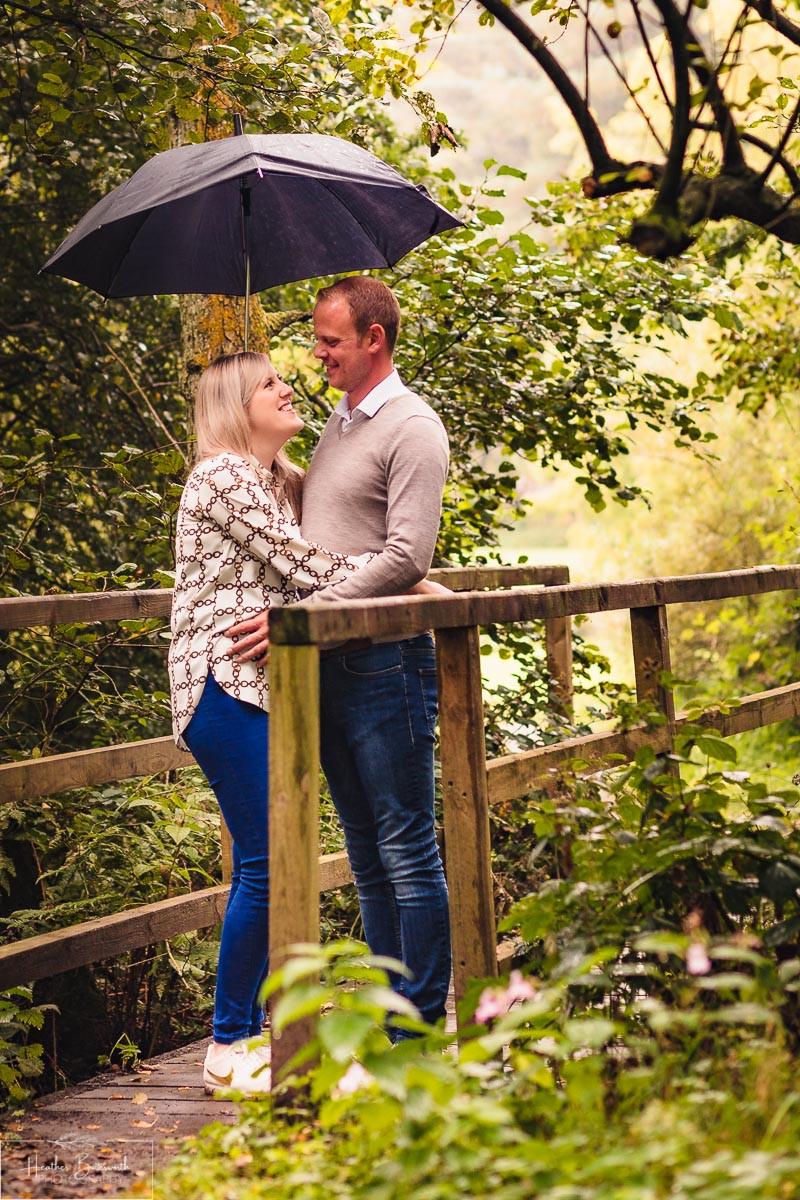 golden acre park Leeds wedding photographer engagement shoot bridge