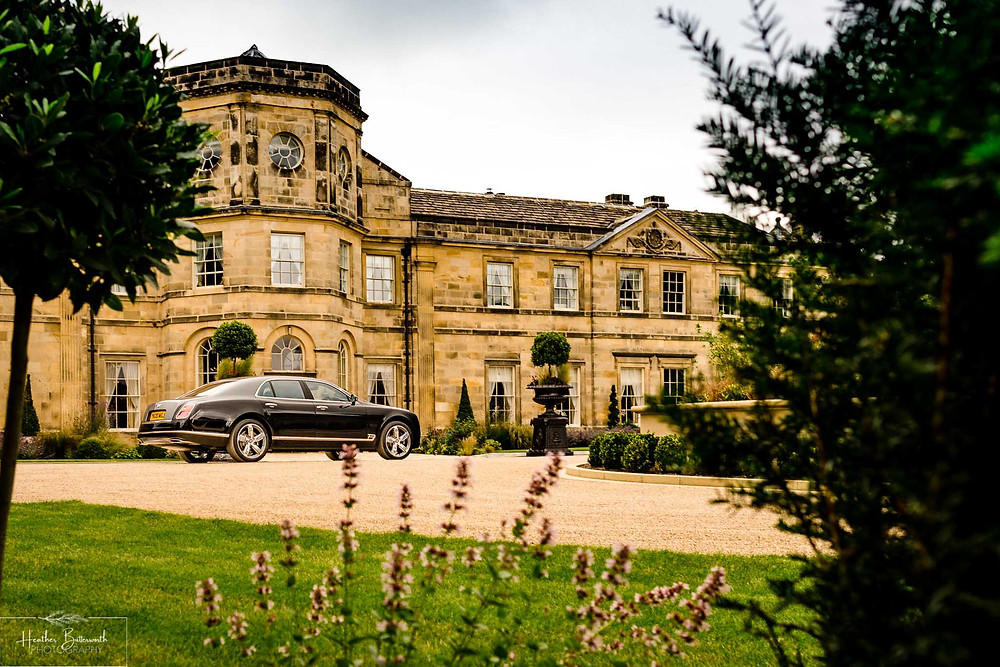 A Bentley Mulsanne outside Grantley Hall, Yorkshire in July 2020