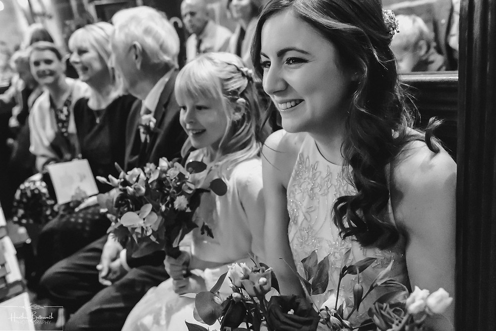 leeds wedding photographer Yorkshire adel parish church st John the baptist bridesmaids