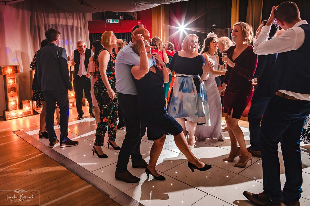 leeds wedding photographer Yorkshire alwoodley community hall party reception dance