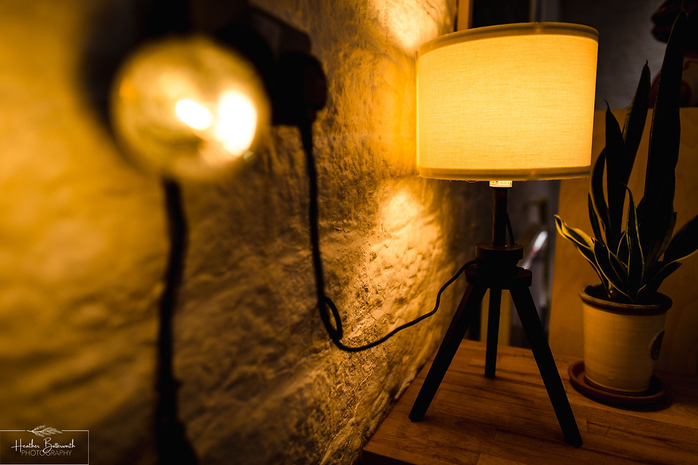 lights at The Triangle Bakehouse in Ripponden West Yorkshire
