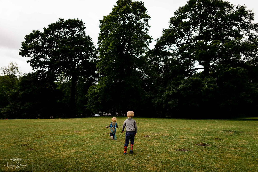 children playing in roundhay park after restrictions were slightly lifted after the COVID-19 lockdown in Leeds , Yorkshire in June 2020