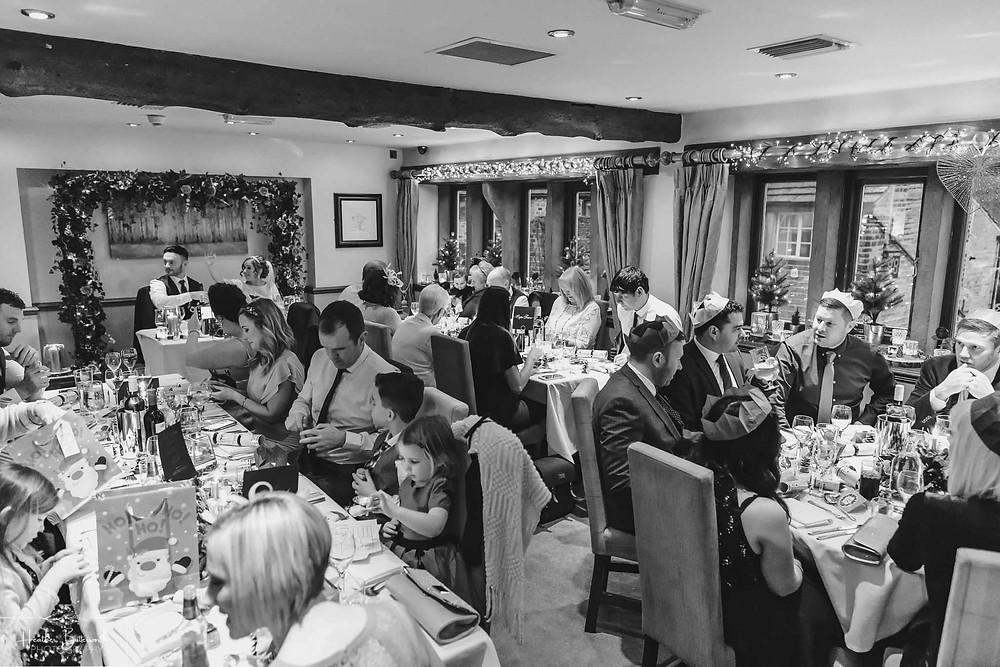 Wedding breakfast at The Woodman Inn in Thunderbridge, Yorkshire