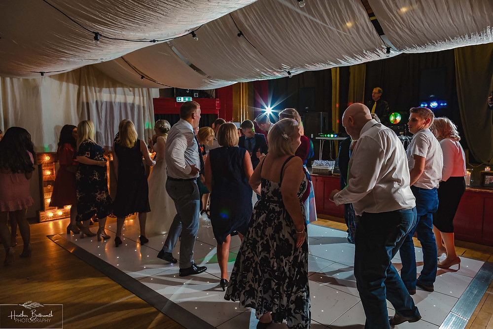 leeds wedding photographer Yorkshire alwoodley community hall party reception