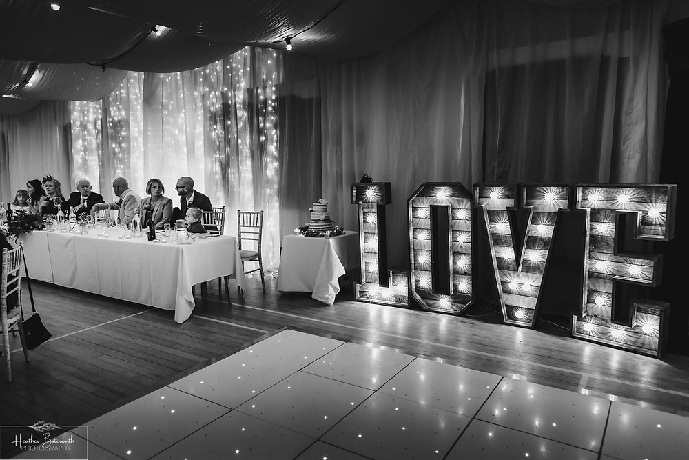 leeds wedding photographer Yorkshire reception alwoodley community hall love letters family