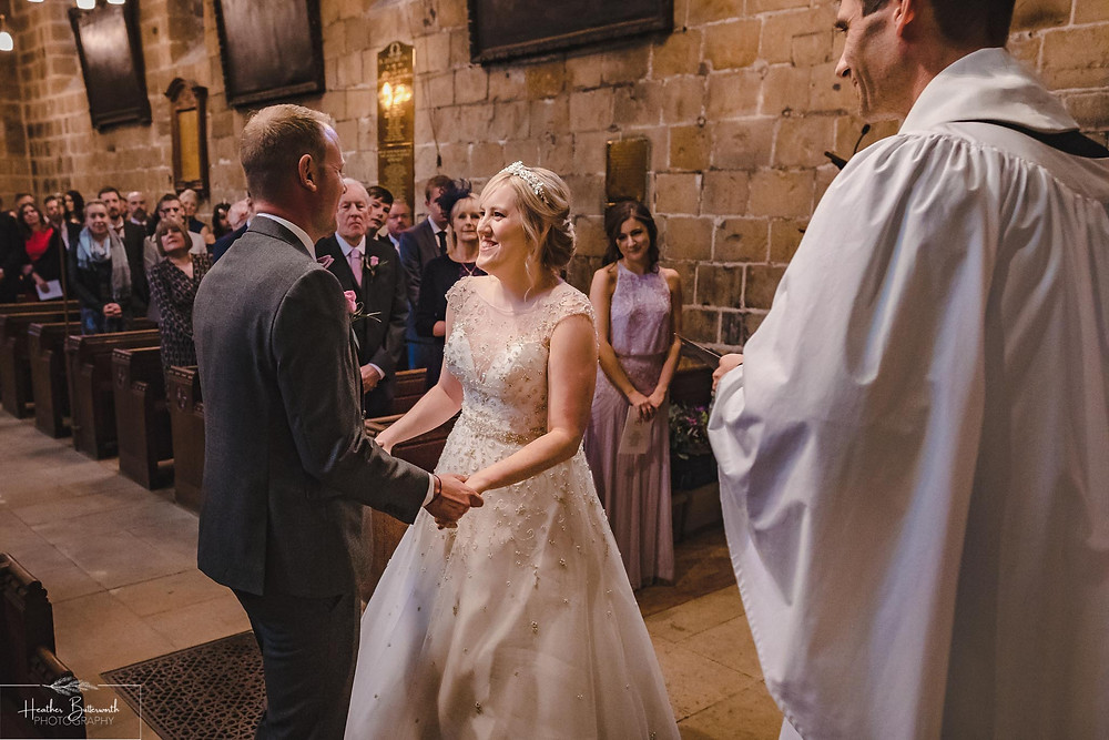 leeds wedding photographer Yorkshire adel parish church st John the baptist bride and groom service