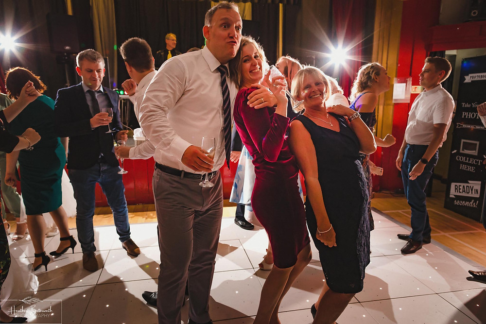 leeds wedding photographer Yorkshire alwoodley community hall party