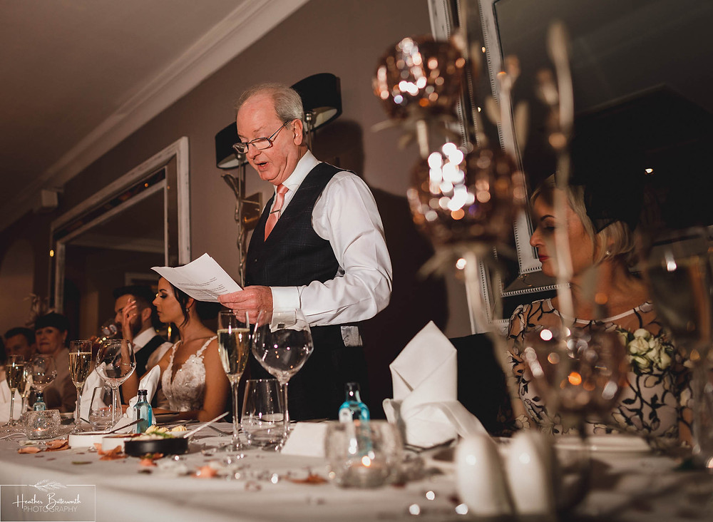 Father of the brides speech at The Burnside Hotel and Spa in Bowness-on-Windermere