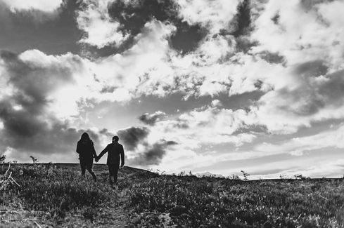 Engagement photography at Langsett Reservoir in Yorkshire