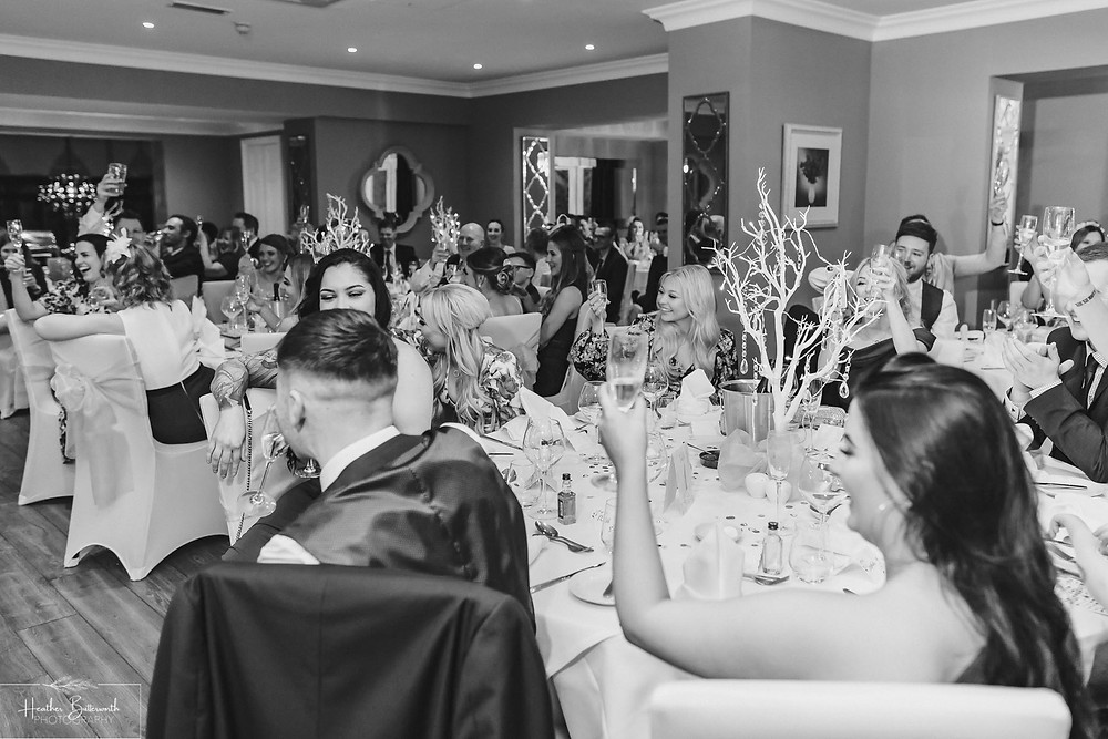 Black and white speech shot at The Burnside Hotel and Spa in Bowness-on-Windermere