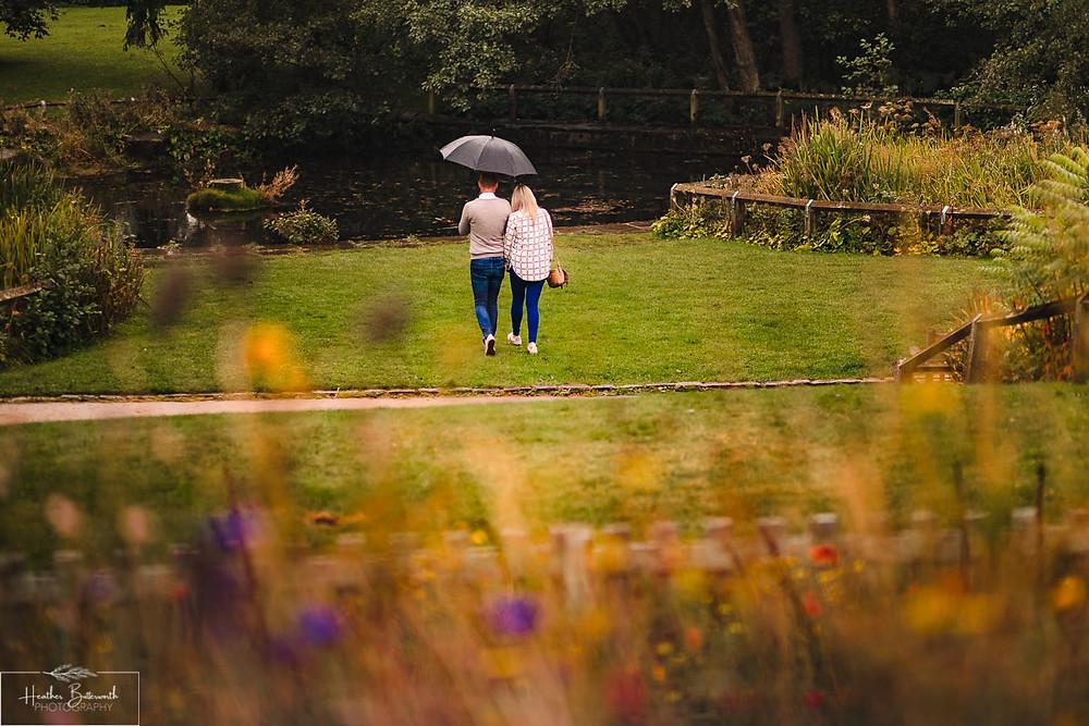 golden acre park Leeds wedding photographer engagement shoot bokeh