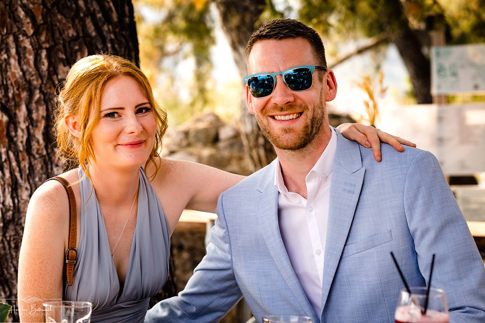 wedding guests at The Boutzi wedding venue in Skiathos Town in June 2019