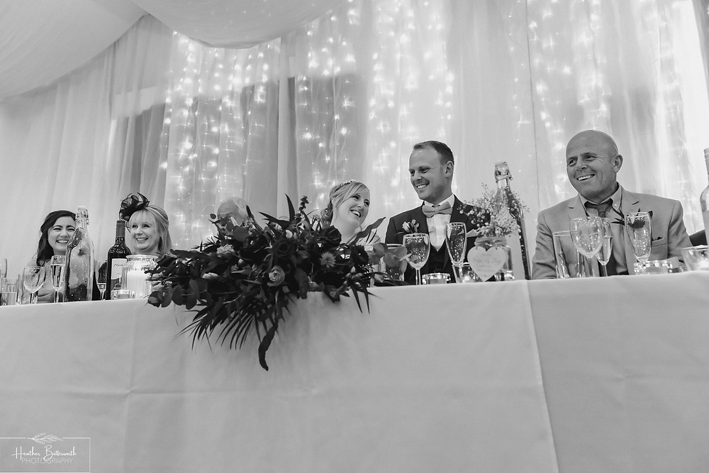 leeds wedding photographer Yorkshire reception alwoodley community hall top table