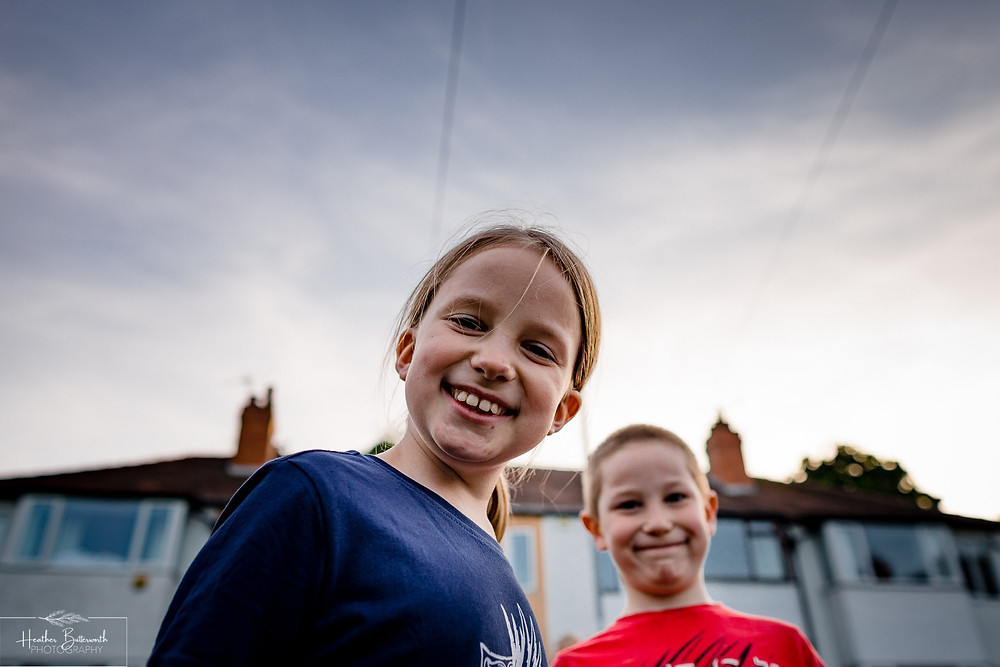 Children in the street for the first time together social distancing after the COVID-19 lockdown in June 2020 in Yorkshire
