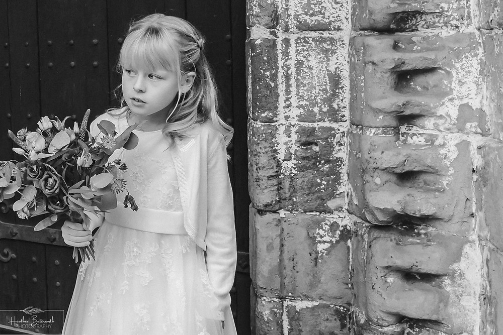 leeds wedding photographer Yorkshire adel parish church st John the baptist daughter bridesmaid