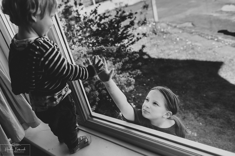 documentary family photography taken during lockdown in 2020 in Leeds Yorkshire by Photographer Heather Butterworth