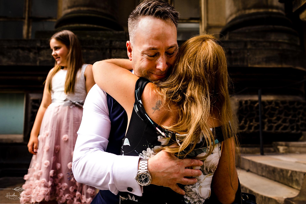 Leeds town hall wedding photography in August 2020