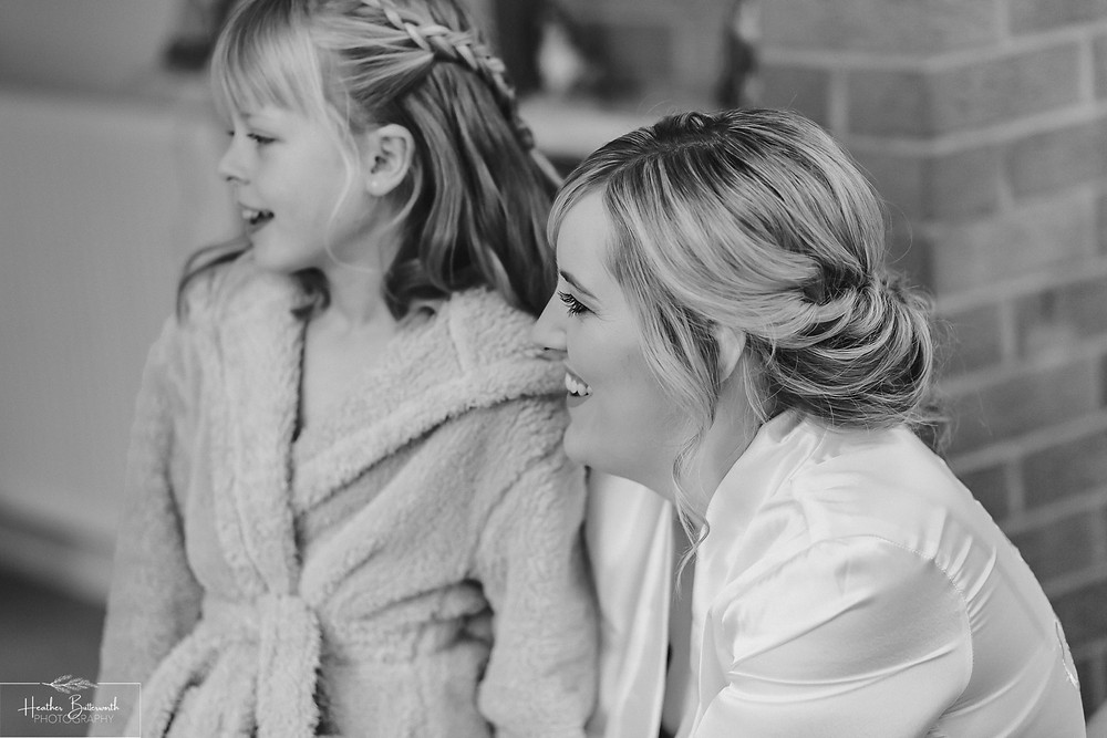 leeds wedding photographer Yorkshire bridal prep mother daughter