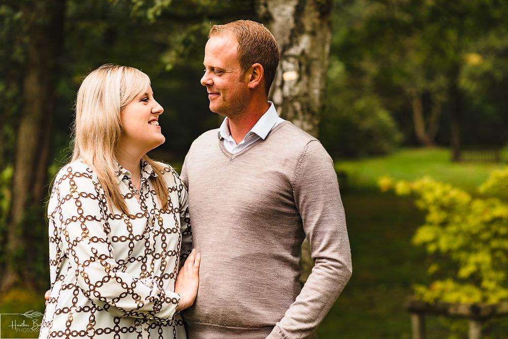golden acre park Leeds wedding photographer engagement shoot couple