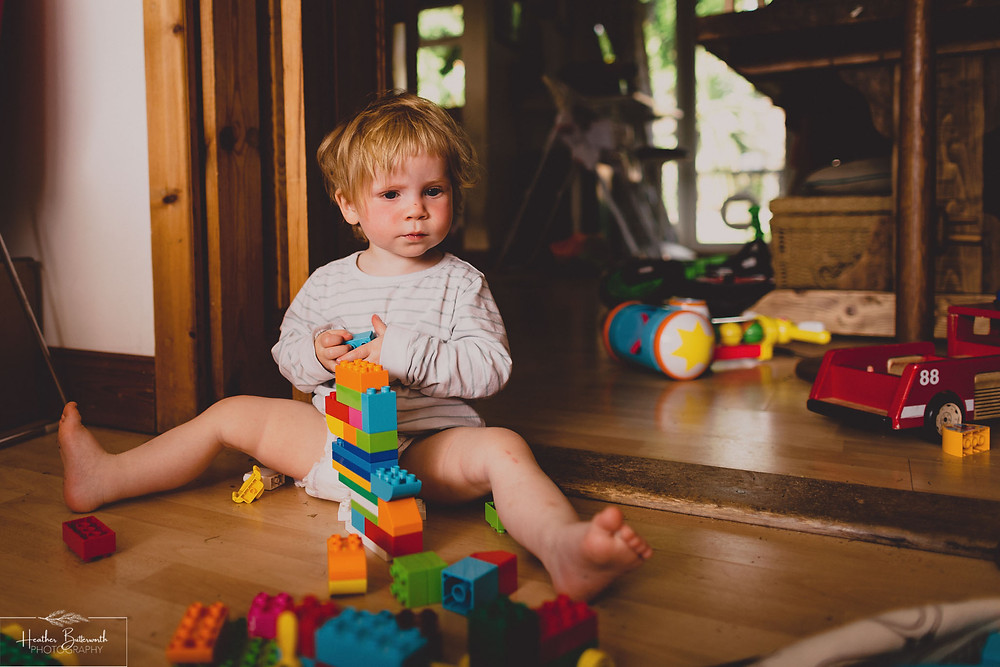 playing with Duplo taken by Heather Butterworth during the COVID-19 pandemic in Leeds Yorkshire in May 2020
