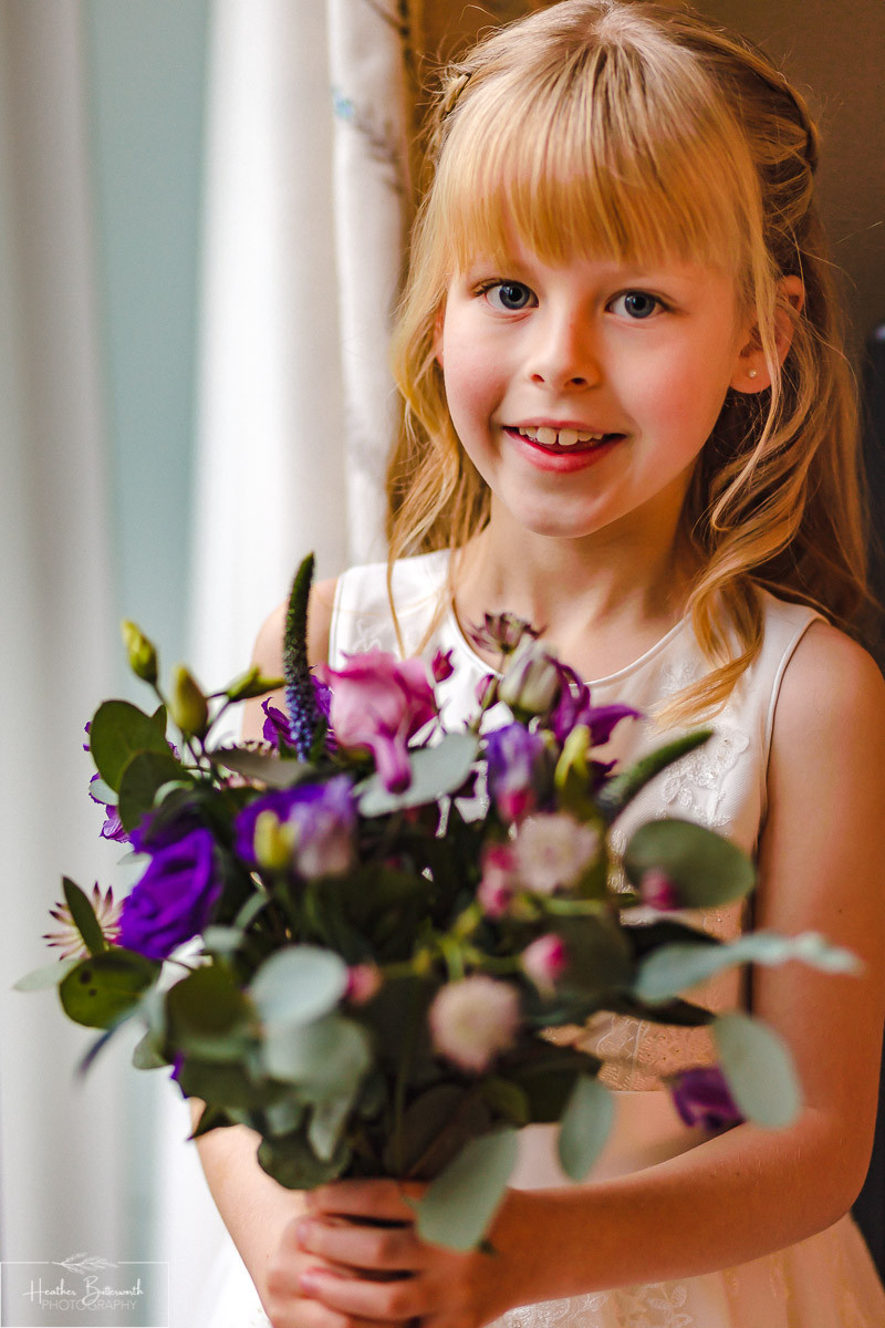 leeds wedding photographer Yorkshire bridesmaid floral expressions headingley