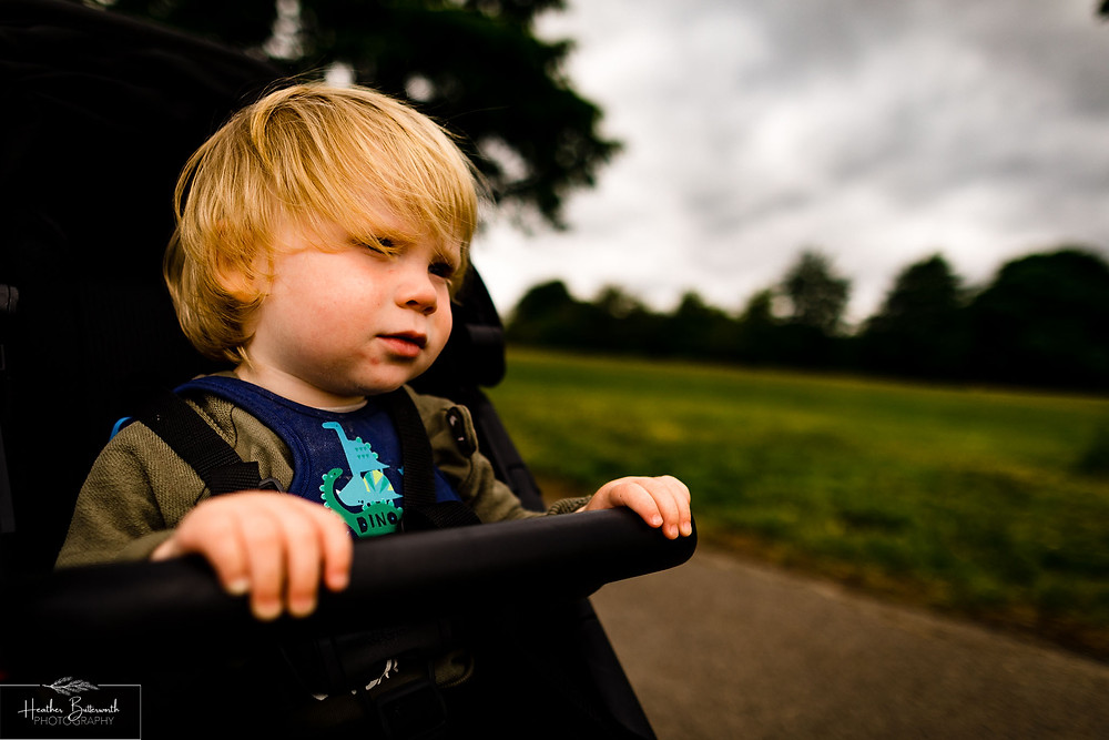 toddler in roundhay park after restrictions were slightly lifted after the COVID-19 lockdown in Leeds , Yorkshire in June 2020