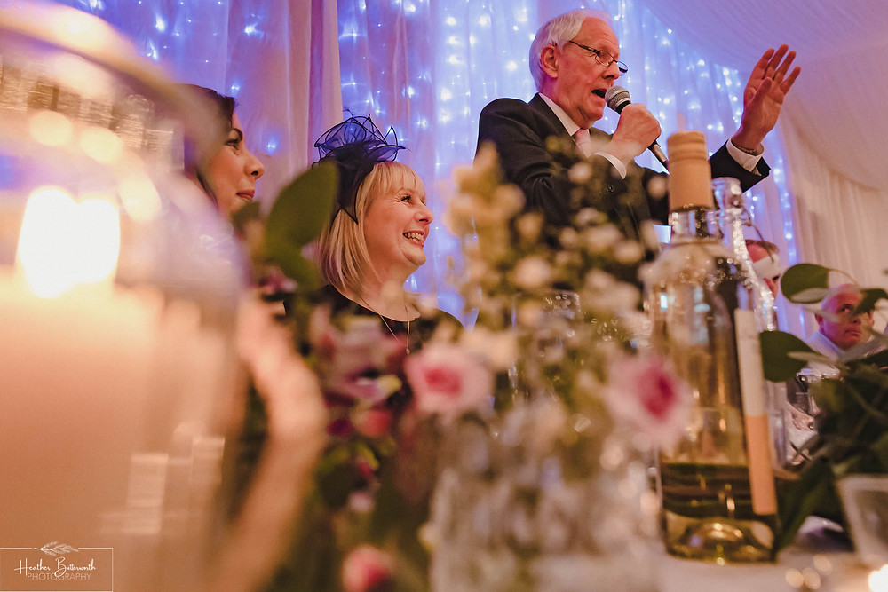 leeds wedding photographer Yorkshire reception alwoodley community hall speech speeches