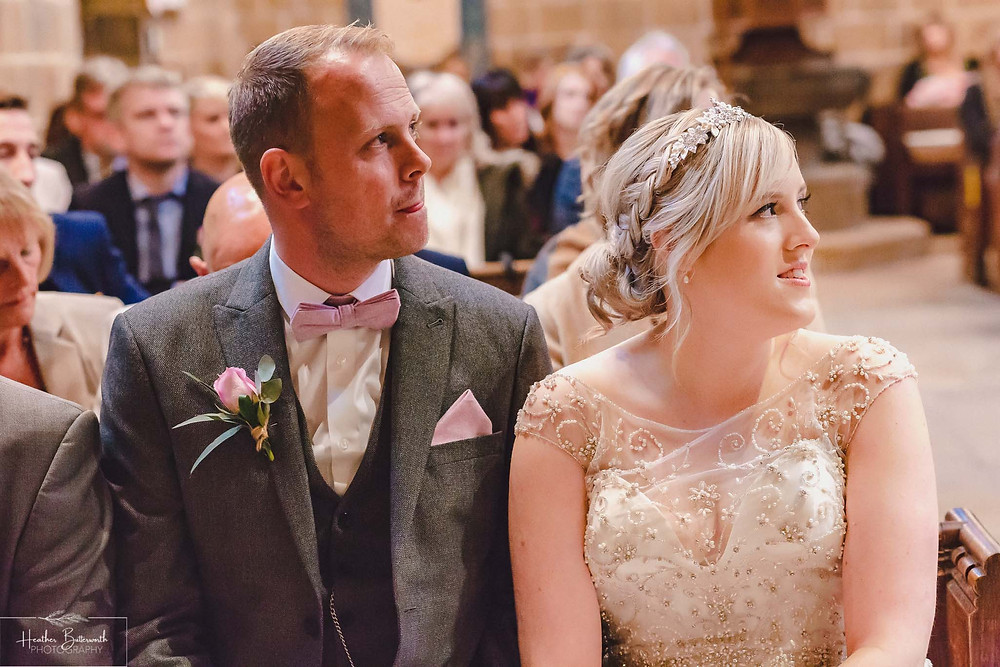 leeds wedding photographer Yorkshire adel parish church st John the baptist bride and groom ceremony