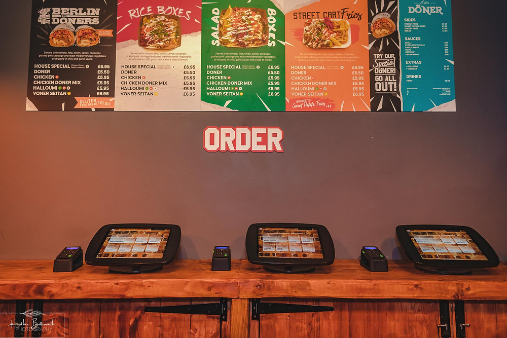 I am Doner in Leeds City Centre Yorkshire. New High Tech Cashless Ordering System