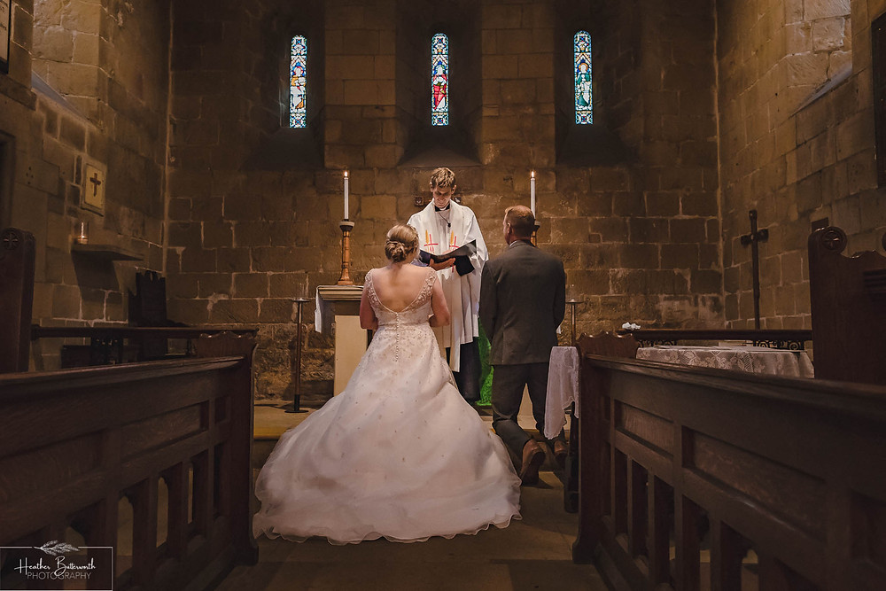 leeds wedding photographer Yorkshire adel parish church st John the baptist service ceremony