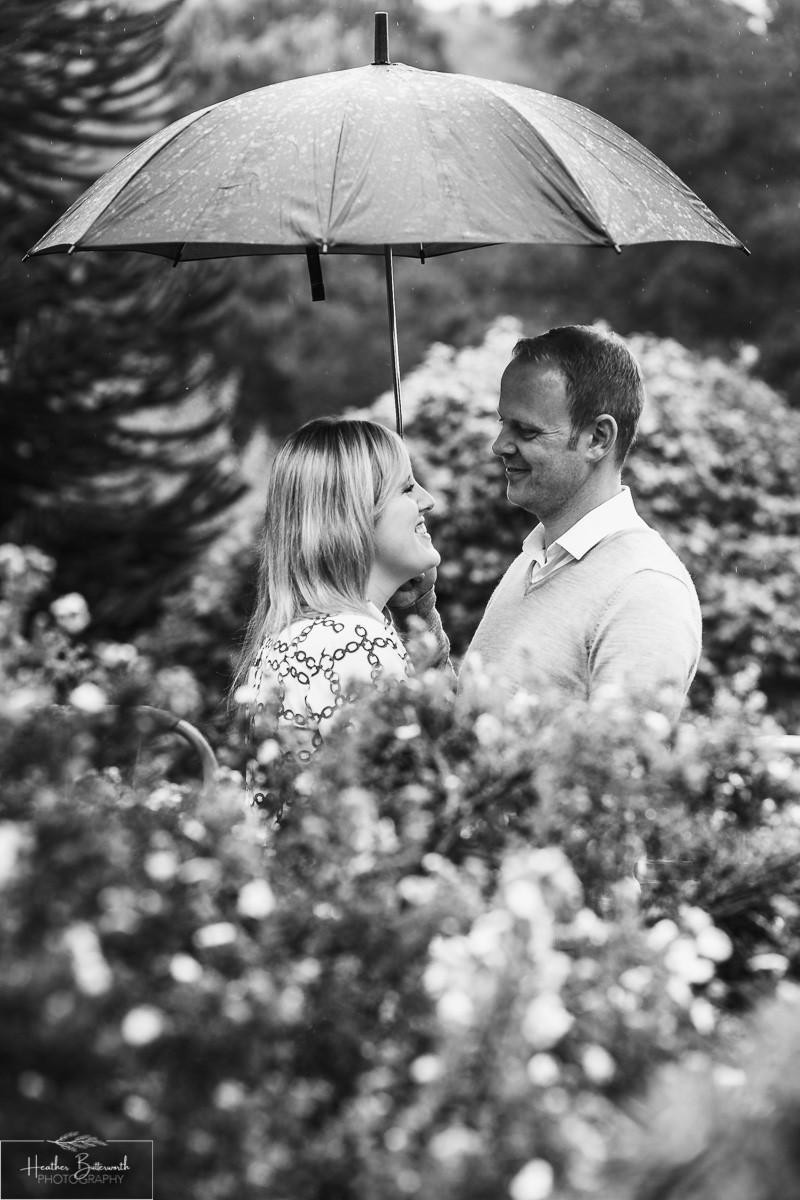 golden acre park Leeds wedding photographer engagement shoot umbrella