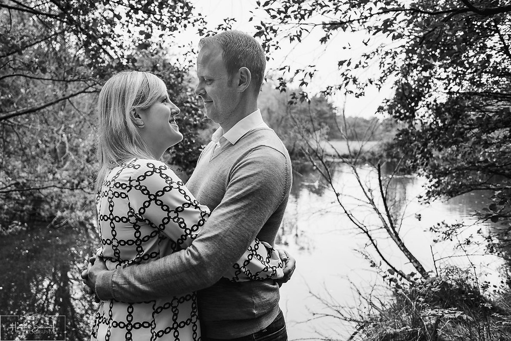 golden acre park Leeds wedding photographer engagement shoot black and white