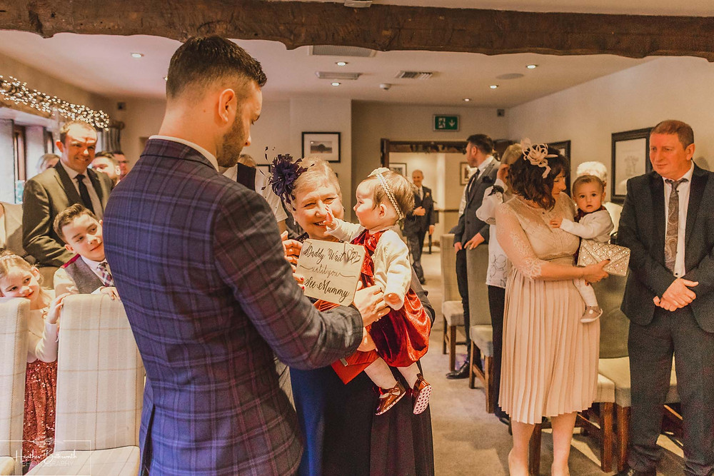 before the bride arrives before the wedding at the woodman inn Yorkshire leeds photographer