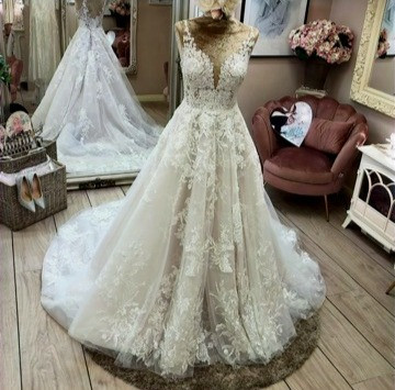 wedding dress in a boutique