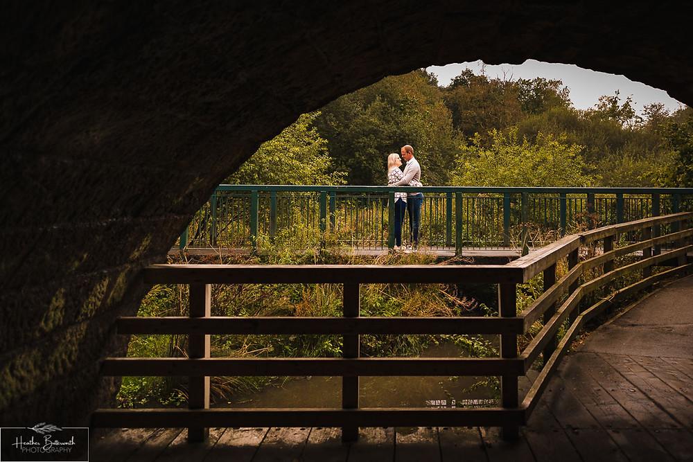 golden acre park Leeds wedding photographer engagement shoot green