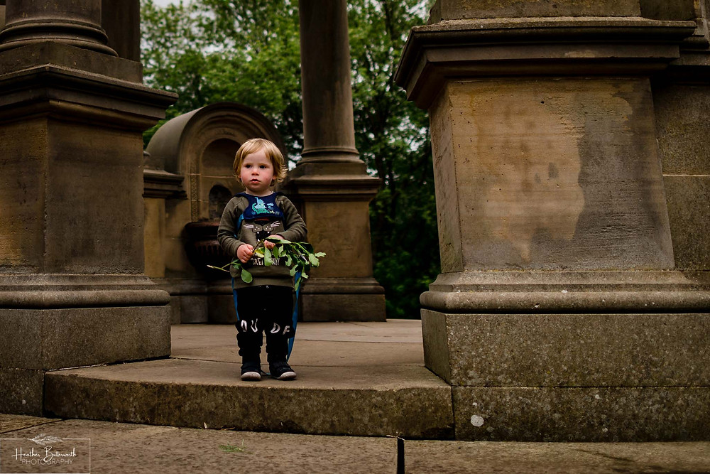 boy playing in roundhay park after restrictions were slightly lifted after the COVID-19 lockdown in Leeds , Yorkshire in June 2020