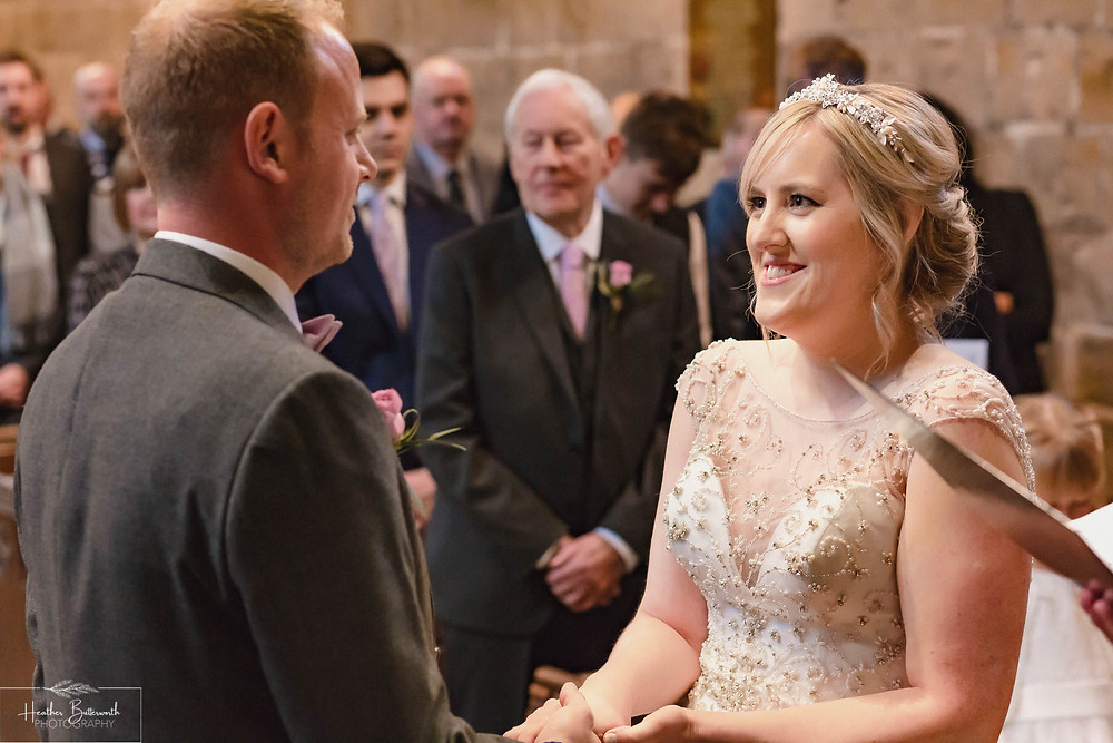leeds wedding photographer Yorkshire adel parish church st John the baptist ceremony