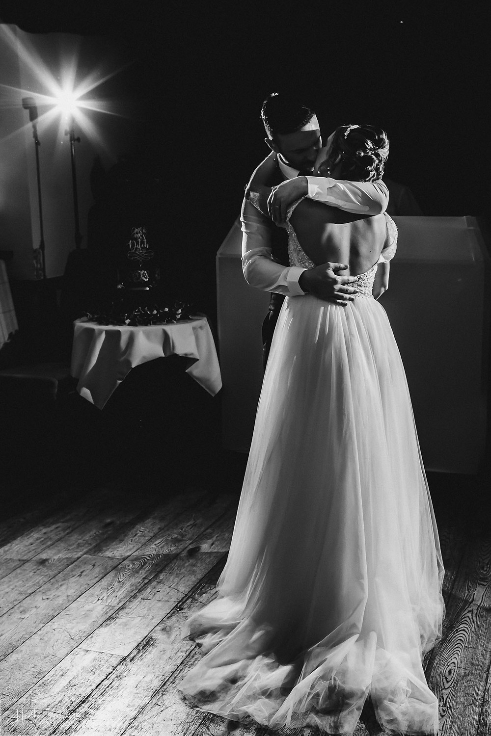 brides and groom first dance wedding photography at the woodman inn Yorkshire leeds photographer