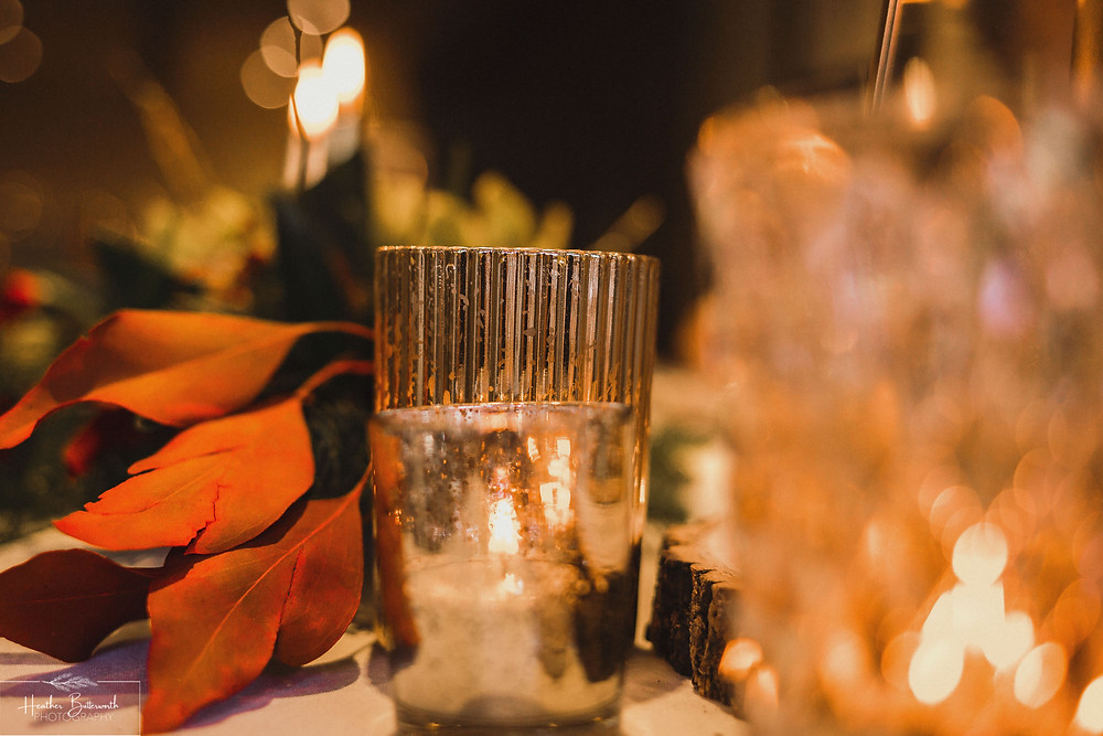 candle lit wedding ceremony at the woodman inn Yorkshire Leeds photography