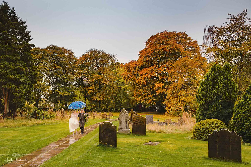 leeds wedding photographer Yorkshire adel parish church st John the baptist father of the bride