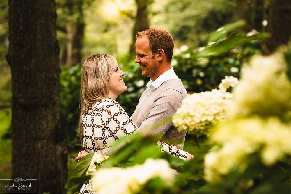golden acre park Leeds wedding photographer engagement shoot sun